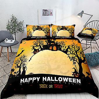 Set de ropa de cama impresa de Castle Halloween