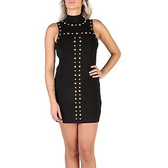 Woman sleeveless turtleneck neckline dress g65431