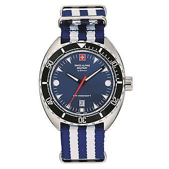 Swiss Alpine Military Men's Watch Analog Quartz 7066.1635SAM NAVO-armband