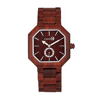 Earth Wood Acadia Bracelet Watch - Red