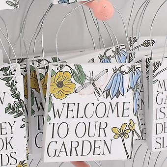 Bem-vindo ao Nosso Jardim - Jardineiros Placa Pendurada - Presente de Preenchimento de Biscoito