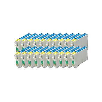החלפת RudyTwos 20x ליחידת דיו של Epson Apple התואמת לSX230 חרט, SX235W, SX420W, SX425W, SX430W, SX435W, SX438W, SX440W, SX445W, SX445WE, SX525WD, SX535WD, SX620FW, משרד B42WD, ב