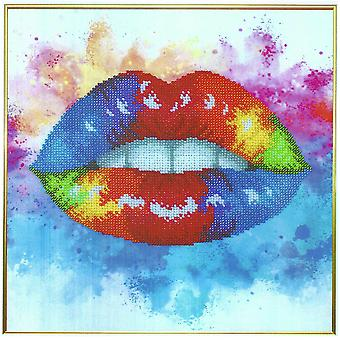VDV Bead Embroidery Kit - Colourful Lips
