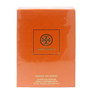 Knock on Wood por Tory Burch extrait de parfum 3.4 oz/100ml spray novo na caixa