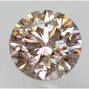Cert 0.51 Carat Fancy Brown VS1 Round Brilliant Enhanced Natural Diamond 4.94mm