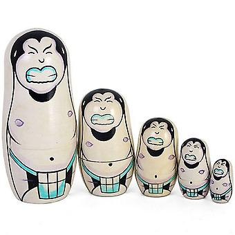 Something Different Sumo Russian Dolls (Set Of 5)
