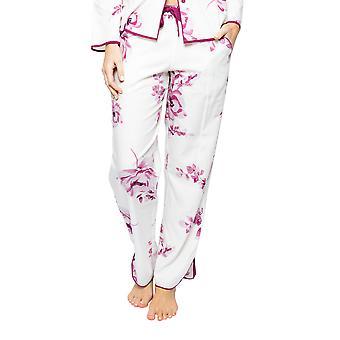Cyberjammies Nova 4580 Women's Cream Mix Berry Floral Print Pyjama Pant