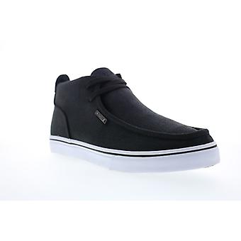 Lugz Strider CC  Mens Black Canvas Lace Up Low Top Sneakers Shoes