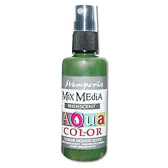 Stamperia Aquacolor Spray 60ml Iridescent Green