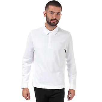 Men's Lacoste Regular Fit Long Sleeve Paris Polo em Branco