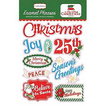 Carta Bella A Very Merry Christmas Enamel Phrases