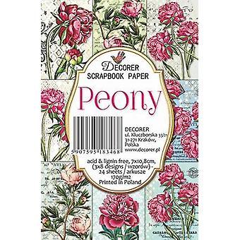Decorer Peony Paper Pack (7x10.8cm) (M55)