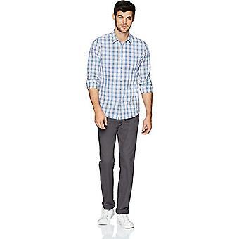 Goodthreads Miehet&s Slim-Fit pitkähihainen moniraitainen ruudullinen paita, vaaleanpunainen/sininen, XX-suuri