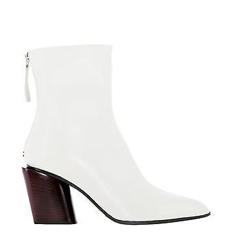 Halmanera Nunzy11ecrouborgogna Women's White Leather Ankle Boots