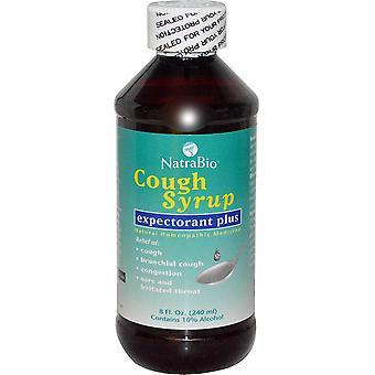 NatraBio, Cough Syrup, Expectorant Plus, 8 fl oz (240 ml)