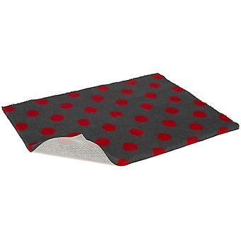 Protiskluzové vetbed polorolované uhlí s červenou puntíky - 10m