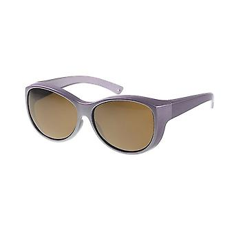 Sunglasses women metallic lilac with brown lens Vz0034pm