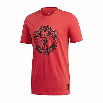 2020-2021 Man Utd Adidas DNA Graphic Tee (Red)