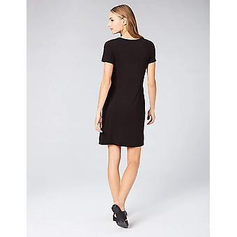 Brand - Daily Ritual Women's Jersey Short-Sleeve Scoop Neck T-Shirt Dress, Black, X-Small