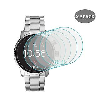 5pcs Tempered Glass For Fossil Q, Explorist Hr Screen-protector Fossil Q Wander