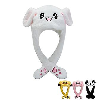 Cartoon Cuddly Moving Ear Rabbit / Panda Hat Dance Peluche, morbido animale di peluche