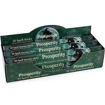 Bâtonnets d'encens éléments prospérité Spell (boîte de 6 paquets)