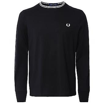 Fred Perry langærmet twin tippet T-shirt M9602