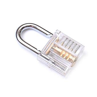 3 in 1 Set Schlosser Werkzeuge, transparente Schloss Kit mit gebrochenem Schlüssel