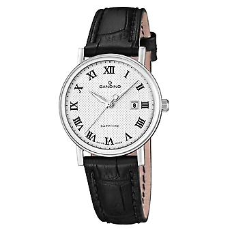Candino Swiss C4488-4 Women's Black Leather Strap Wristwatch