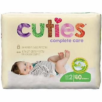 First Quality Unisex Baby Diaper Cuties Complete Care Tab Closure Size 2 Disposable Heavy Absorbency, 40 Bags