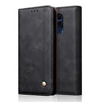 Lederen hoesje voor OnePlus 7 PRO Zwart mishangsi-1