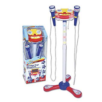 Bontempi toy band star showtime stage with 2 microphones white/blue for ages 3+