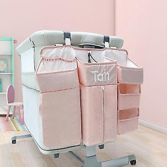 Baby Organizer Crib, Hanging Storage Bag, Foldable Nursing Stacker Caddy