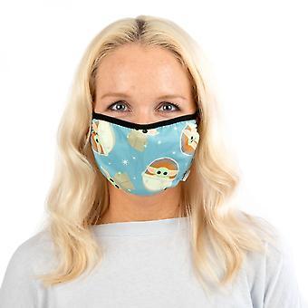 Star Wars die mandalorianischen Das Kind verstellbare blaue Gesicht Abdeckung