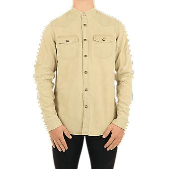 Balmain  Embossed Denim Shirt-U Beige UH02326Z1788AA Top