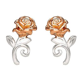 Disney Beauty and the Beast Rose Sterling Silver Stud Boucles d'oreilles