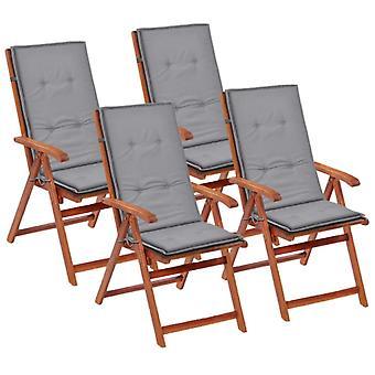 vidaXL edición de silla de jardín Hochlehner 4 uds. gris 120 x 50 x 3 cm