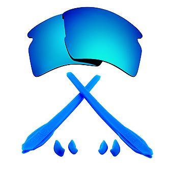 Ersättare linser & kit för Oakley flak 2,0 XL blå spegel & blå Anti-Scratch anti-bländning UV400 av SeekOptics