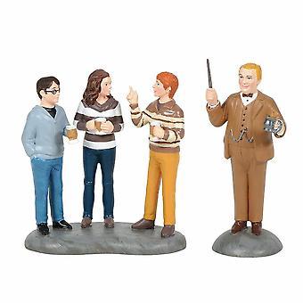 Harry Potter Village by Dept 56 Professor Slughorn & The Trio Set Of 2