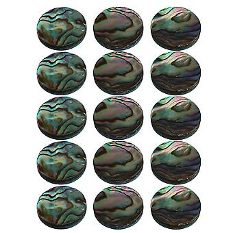 Trumpet Finger Key Buttons Abalone Shell Inlays 13.6x2.5mm Pack of 15
