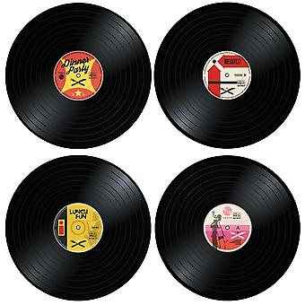 4x Placemats - Vinyl records