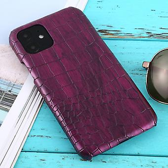 For iPhone 11 Shockproof Crocodile Texture Protective Case(Purple)