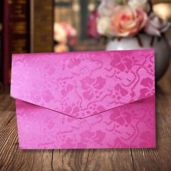 A6 Pocketfold Invitations Fuchsia Broderie Pack of 10