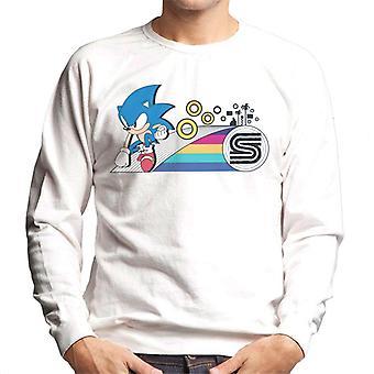 Sonic The Hedgehog Täydellinen Landing Rings Men's Collegepaita
