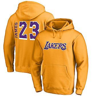 Los Angeles Lakers Lebron James Loose Pullover Hoodie Sweatshirt WY078