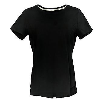 アイザック・ミズラヒライブ!女性&アポスのトップピマコットンシームTシャツブラックA379609