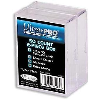 Ultra Pro Plastic Box 50 Count 2-pack