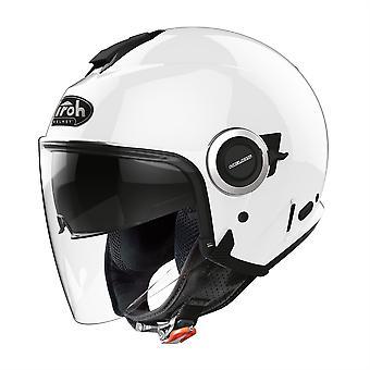 Airoh Helios Jet Color Open Face Motorradhelm Hi-Vis reflektierend Weiß