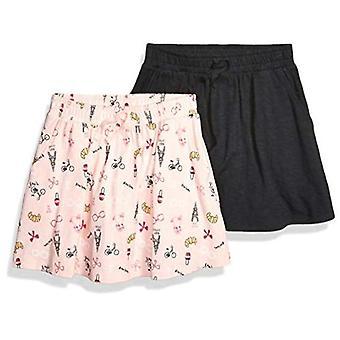 Spotted Zebra Big Girls' 2-Pack Twirl Scooter Skirts, Elephants/Pink, Medium ...