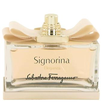 Signorina Eleganza Eau De Parfum Spray (Tester) By Salvatore Ferragamo 3.4 oz Eau De Parfum Spray